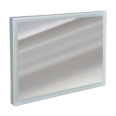 LED Bathroom Mirror with Touch Buttons Wall-mounted Anti-fog - Silver