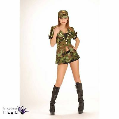Ladies Women Military Army Airforce Sexy Combat Cutie Costume Fancy Dress Outfit