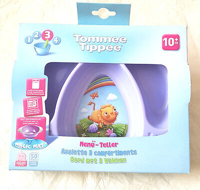 Tommee Tippee 3 Compartment Plate  10  Mths  New