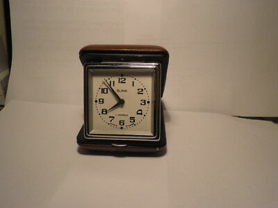 70s Vintage SLAVA 11 Jewel Travel Clock Made IN USSR  Working Order + Paper Work