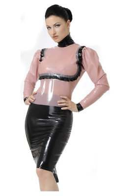 SHELF CLEARANCE R1181 Latex WESTWARD BOUND SECONDS BLOUSE 10 WHITE £142
