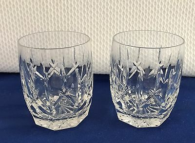 2 Waterford Crystal Westhampton Double Old Fashion Glasses Glass