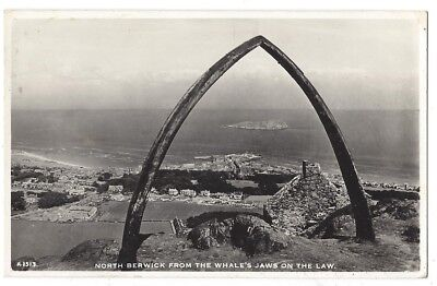 NORTH BERWICK Whale's Jaws on the Law, RP Postcard by JB White Posted 1956