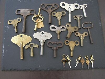 23 Antique Vintage clock keys clock Winding Pocket Watch Key Spare Parts Smiths