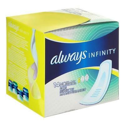 Always Serviettes Hygieniques Infinity Normal X14 93509