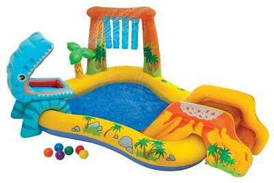 Planschbecken Dinosaurier Play Center Intex Pool für Kinder 249x191x109cm *Top*
