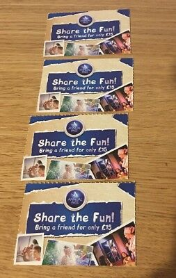 4 x Share The Fun For £15 Vouchers - Merlin Premium Annual Pass - Tickets Entry