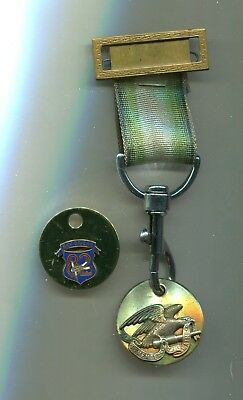 Steampunk Air BADGE Medal Pin Antique Brass ANTIQUE WAR EAGLE Cosplay Costume
