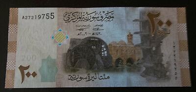 200 Syrian Pounds Bank Note 2009 - Crisp