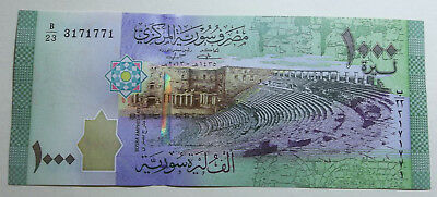 Syria 1.000 Pounds Bank Note 2013 - New