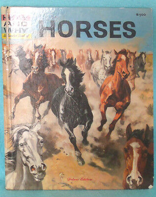 """1961 """"The How and Why Wonder Book of Horses"""""""