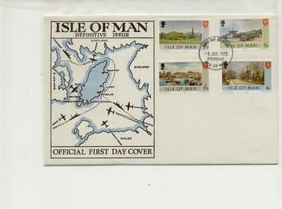 Isle of Man 1973 Devinitive FDC with Missing Yellow in cover