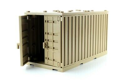 Dark Tan Cargo Shipping Container (W305)compatible with toy brick building block