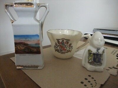 3 Pieces Of Crested China By Carlton China & Arcadian
