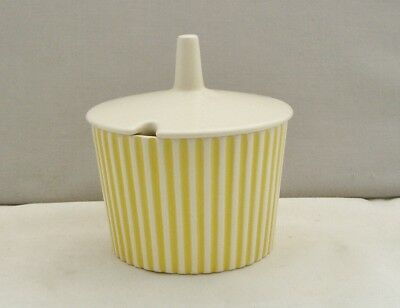 HORNSEA POTTERY SUMMIT YELLOW COVERED SUGAR BOWL JOHN CLAPPISON 1960s