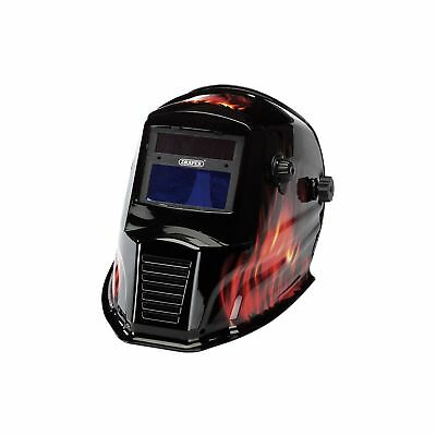 1x Draper Solar Powered Auto - Varioshade Welding And Grinding Helmet - Flame