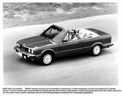 1989 BMW 325i Convertible Factory Photo c3496-86UO21