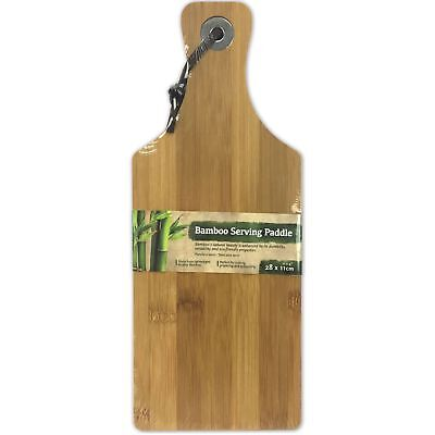 28 x 11cm Bamboo Wooden Serving Tray Cheese Paddle Chopping Board Kitchen Dish