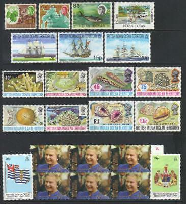 British Indian Ocean Territory Mostly Mh Selection Incl Sets Cat £65+