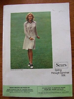 Vintage 1974 SEARS Spring & Summer Catalog VERY NICE 1420 pages