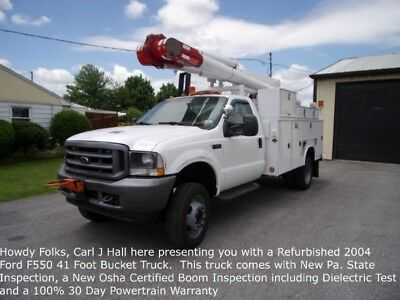 Refurbished 04 Ford F550SD 41ft Bucket Truck
