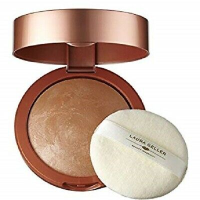 Laura Geller Baked Face & Body Frosting with puff Honey Glow HUGE 20 g BOXED $45