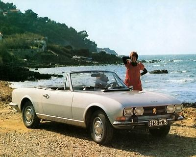 1973 Peugeot 504 Cabriolet Factory Photo c4296-29NTWO
