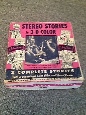 Vintage Radex Stereo Stories Box Set 1950's  Viewmaster 3D Type Viewer