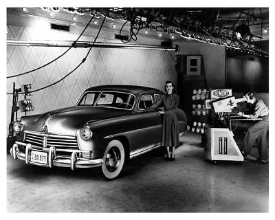1948 Hudson Sedan Factory Photo DuMont TV Studio c5248-UHZGXK