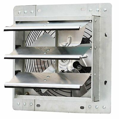 iLiving ILG8SF10V 10 Inch Variable Speed Wall Mounted Steel Shutter Exhaust Fan