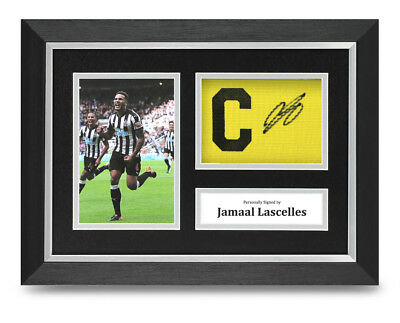 Jamaal Lascelles Signed A4 Framed Captain Photo Display Newcastle Autograph COA