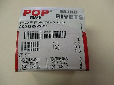 Pop Brand SS New Stainless Steel Rivets (QTY 100)