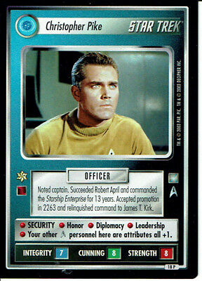Star Trek Ccg All Good Things, Rare Card 18P Christopher Pike