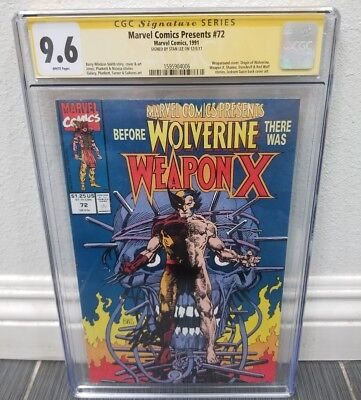 Marvel Comics Presents 72 CGC SS Stan Lee Wolverine Barry Windsor Smith Weapon X