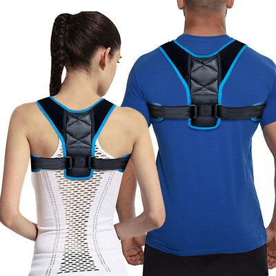Posture Clavicle Support Corrector Back Straight Shoulders Brace Strap Correct S