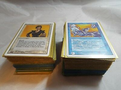 Magic The Gathering Unlimited Complete Set Of Common, Uncommon And Basic Lands