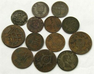 Lot of 13 German State Coins 1726-1870's- Prussia Hamburg & More -ASW 0.2897 oz