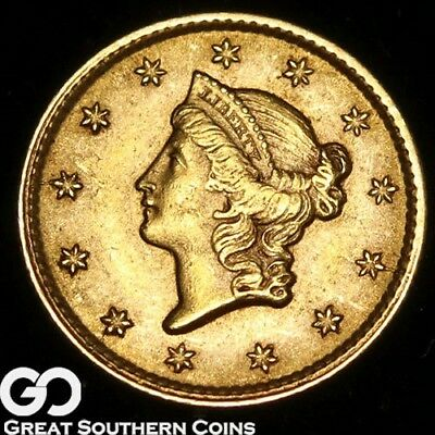 1853 Gold Dollar, $1 Gold Liberty, Type 1, Nice Gem BU++ ** Free Shipping!