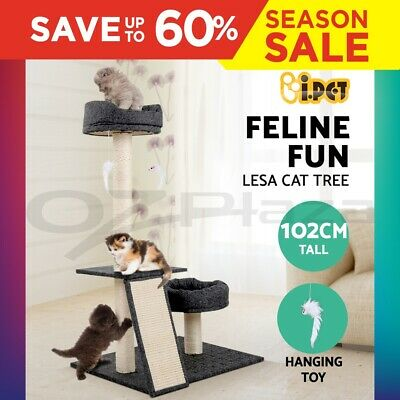 i.Pet Cat Scratching Tree Post Sisal Pole Condo Toy Furniture Multi level 102cm