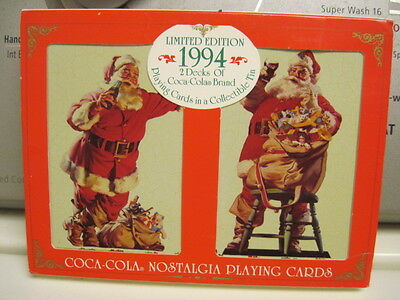 1994 Limited Edition 2 Decks of Coco-Cola Brand Cards in a Collectible Tin NEW