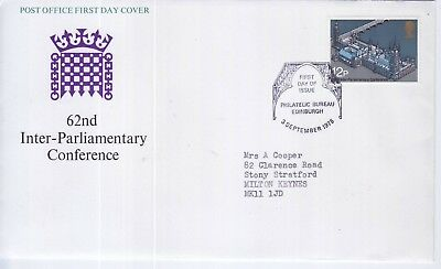 GB Stamps First Day Cover 62nd Inter Parliamentary Conference SHS Roof Arch 1975