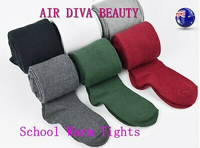 Children Senior Junior Girl Winter School Uniform Warm tights Stockings 4-16 Yrs