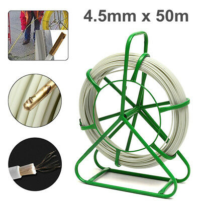 4.5mm 50m Fiberglass Wire Cable Fish Tape Running Rod Duct Puller Electric Reel