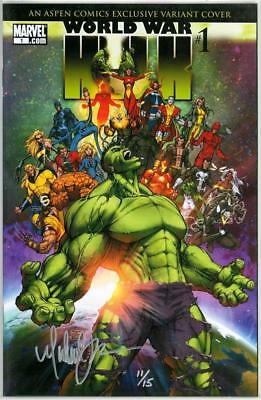 World War Hulk #1 Aspen Variant Df Dynamic Forces Signed Michael Turner Ltd 15