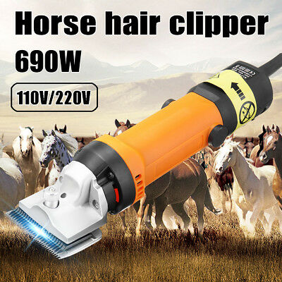 690W Professional Electric Animal Clipper Heavy Duty Horse Dog Pet Shearing