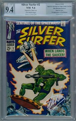 Silver Surfer #2 1968 Pgx 9.4 Signature Series Signed Stan Lee Marvel Movie Cgc