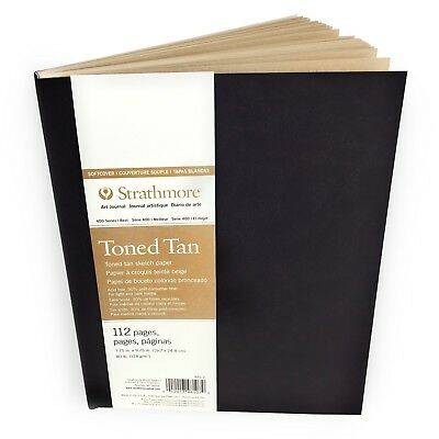 Strathmore 400 Series Toned Tan Sketchbook – Soft Cover – 112 Pages –19.7 x 24.8