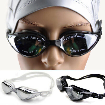 Unisex New Anti-fog UV Swimming Protection Goggles Glasses for Shortsighted ED
