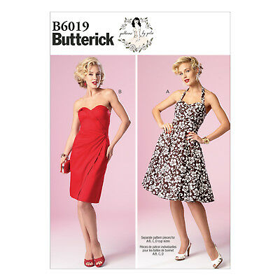 Butterick 6019 Gertie Sewing Pattern to MAKE Retro Vintage Dress w/Skirt Vari
