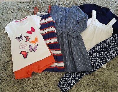 Girle Spring Summer Bundle Dress Shorts Tops Age 9-10 Years